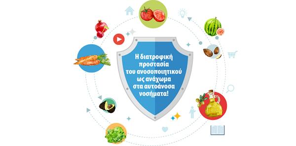 «Ανοσοπροστατευτική» διατροφή: Η διατροφική προστασία του ανοσοποιητικού ως ανάχωμα στα αυτοάνοσα νοσήματα!